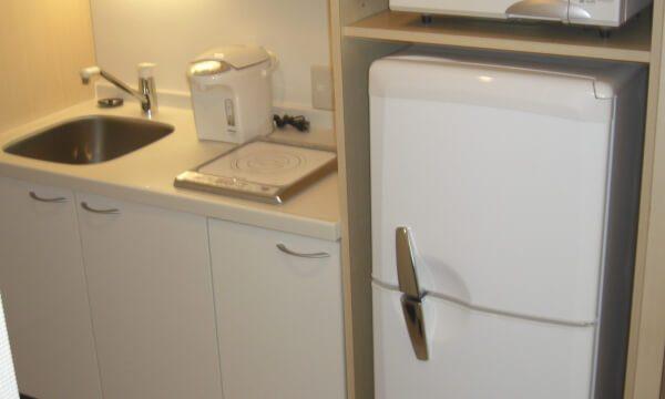 ミニキッチン 電子レンジ 2ドア冷蔵庫